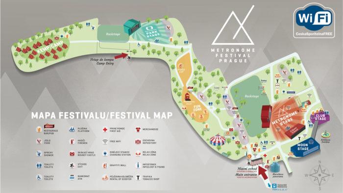 Metronome Festival Prague 2017 - festivalová mapa