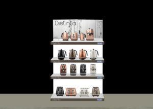 Branding regálů De'Longhi
